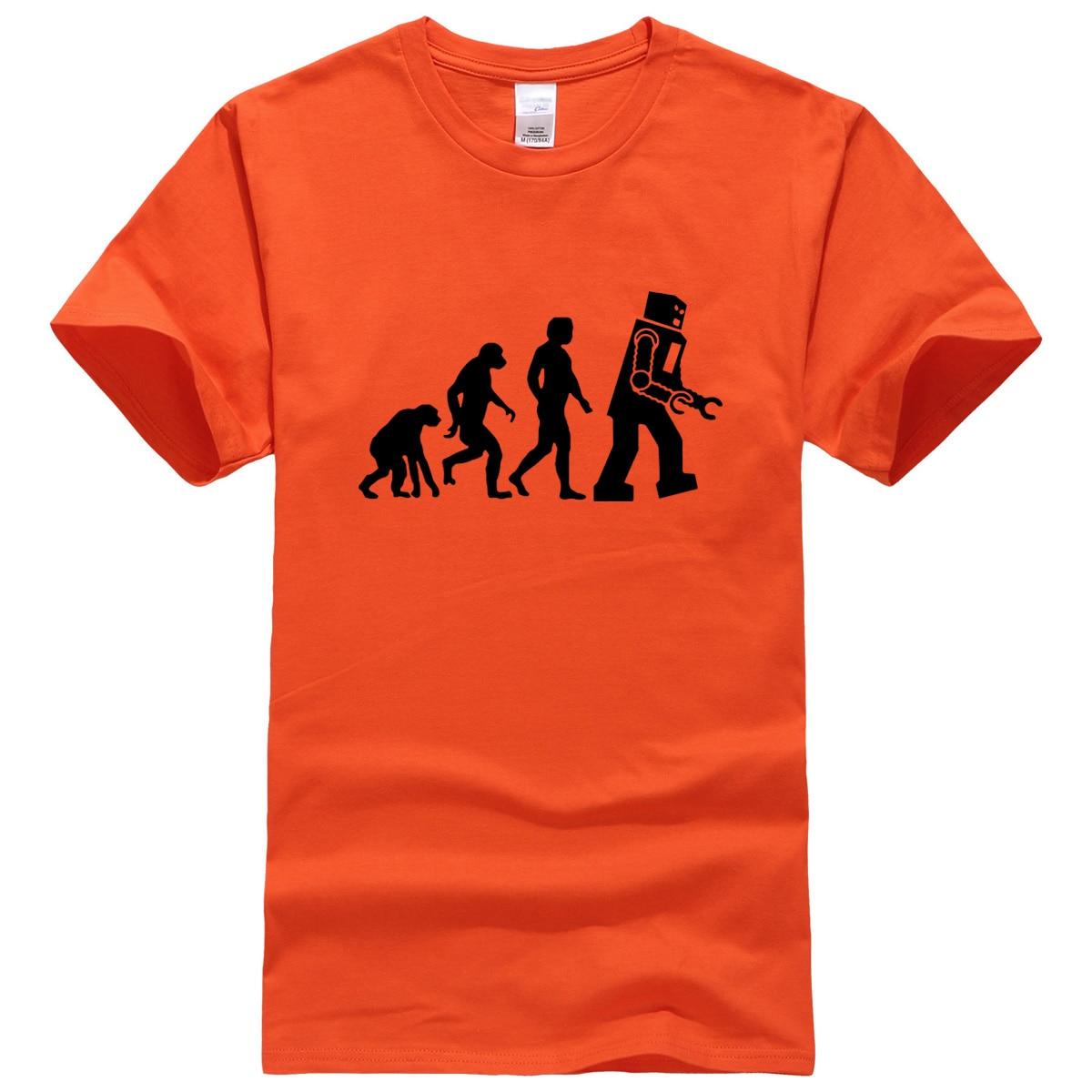 2019 T-shirts The Big Bang Theory Robot Evolution T-shirt tops summer casual men's T-shirts fitness kpop sportswear t shirt men