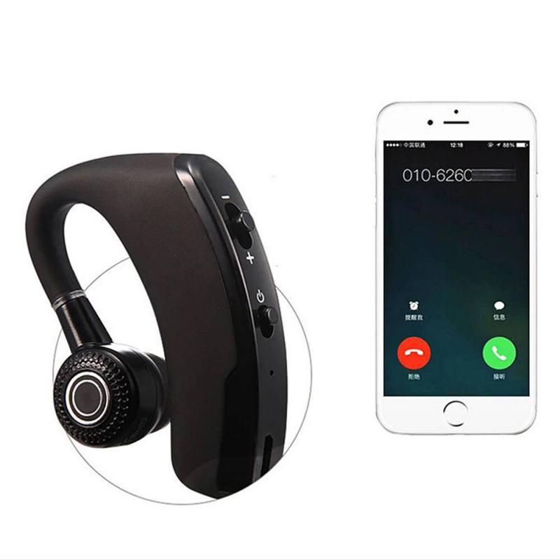 V9 pendaison oreille sans fil voiture affaires écouteur stéréo mini Bluetooth casque pour iPhone Xiaomi Samsung HuaWei téléphones intelligents