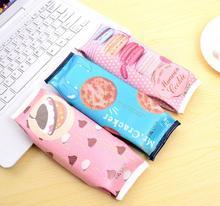 Cracker макарон zakka пенал искусственная школы kawaii корейский творческий школьные офис