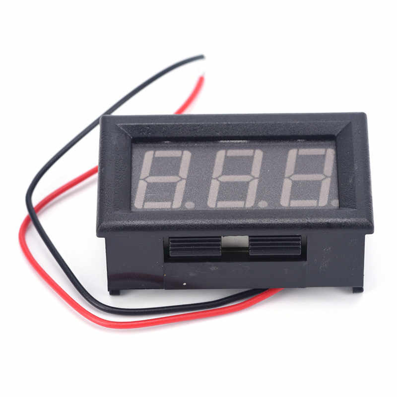 1pcs High quality and inexpensive DC 0-30V red auto car Mini voltmeter tester Digital voltage test battery Hot Sell