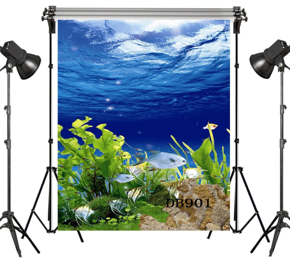 Photo Studio Ocean Fish Photography Backdrop Kids Vinyl Backdrop For Photography Photocall Underwater Background For Photo Studio Cortina Camera & Photo