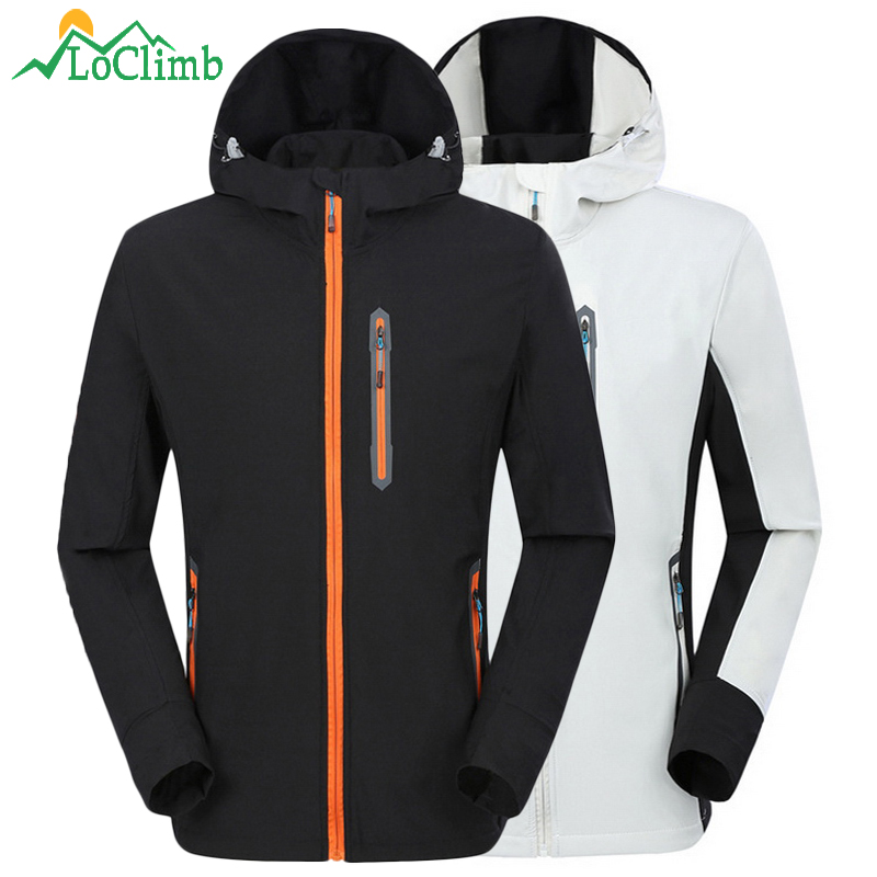 LoClimb Men's Hiking Jacket Men Spring/Summer Stretch Outdoor Sport Coats Male Trekking/Mountain Climbing/Running Jackets AM300
