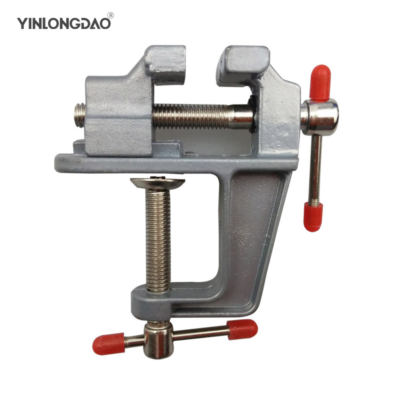 High Quality New Aluminum Small Jewelers Hobby Clamp On Table Bench Vise Mini Hand Tool Vice Hot Hand Tools Set hot sale 35mm aluminum miniature small jewelers hobby clamp on table bench vise tool vice free shipping