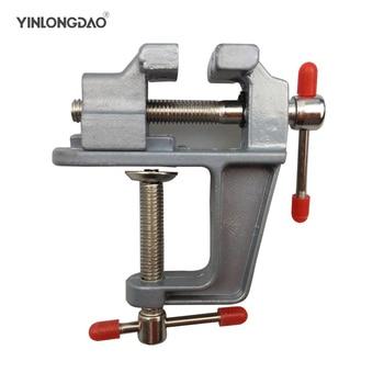 цена на High Quality New Aluminum Small Jewelers Hobby Clamp On Table Bench Vise Mini Hand Tool Vice Hot  Hand Tools Set