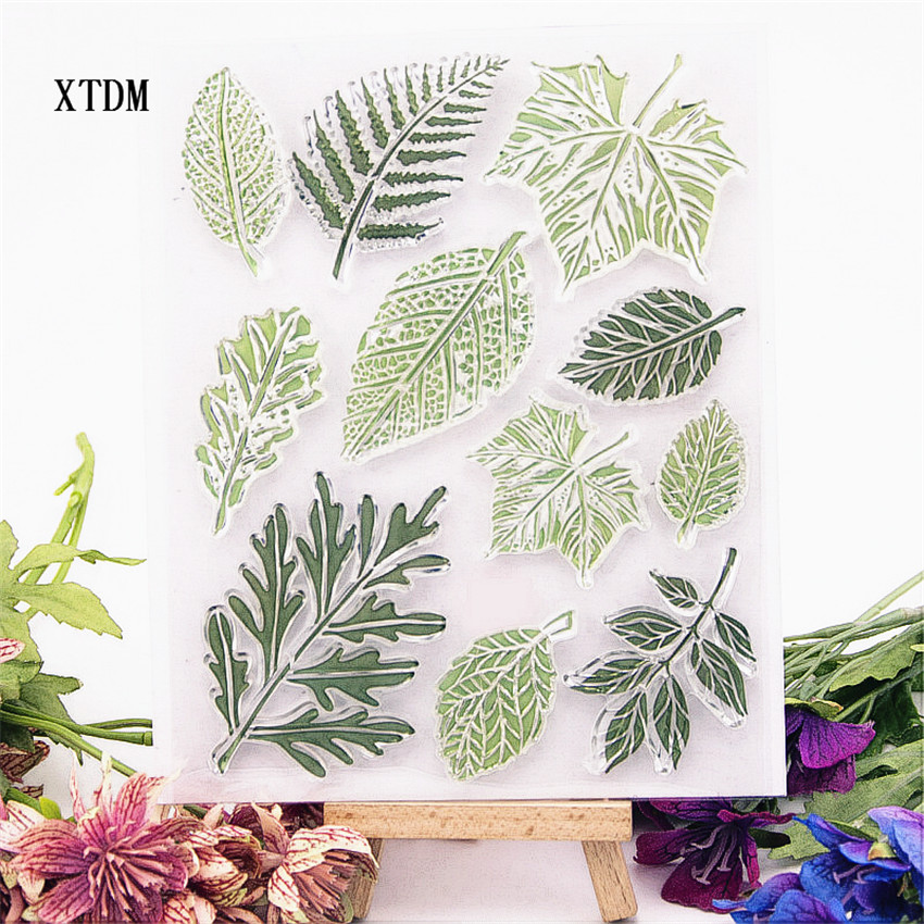 Hot Selling Green Leaf Clear Stamp / Silicone Seal Flower Stamp DIY Scrapbook Album / Card Production