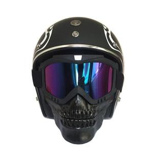 Cool skull motorcycle face Mas