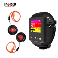 DAYTECH Restaurant Guest Pager System Waiter Paging Queuing Home Care Alert Calling System Caregiver Pager Watch Call Button
