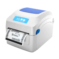 TEROW Barcode Printers 203dpi Clothing Label Support 108mm Width Printing Electronic Surface by Thermal bar code Label Printer