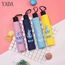 YADA Design Cartoon Rabbit Pattern Cute Folding Rainy Children Umbrella Anti-UV Girls Boys Lovely Animal New Gift YD038