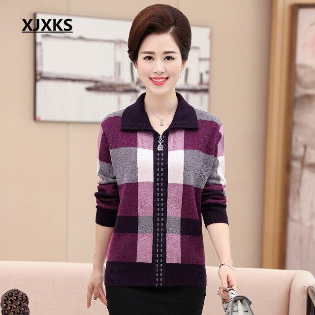 XJXKS Autunno inverno 2016 di mezza età e anziani femminile plus size maglione  di cachemire c107fa8e92b