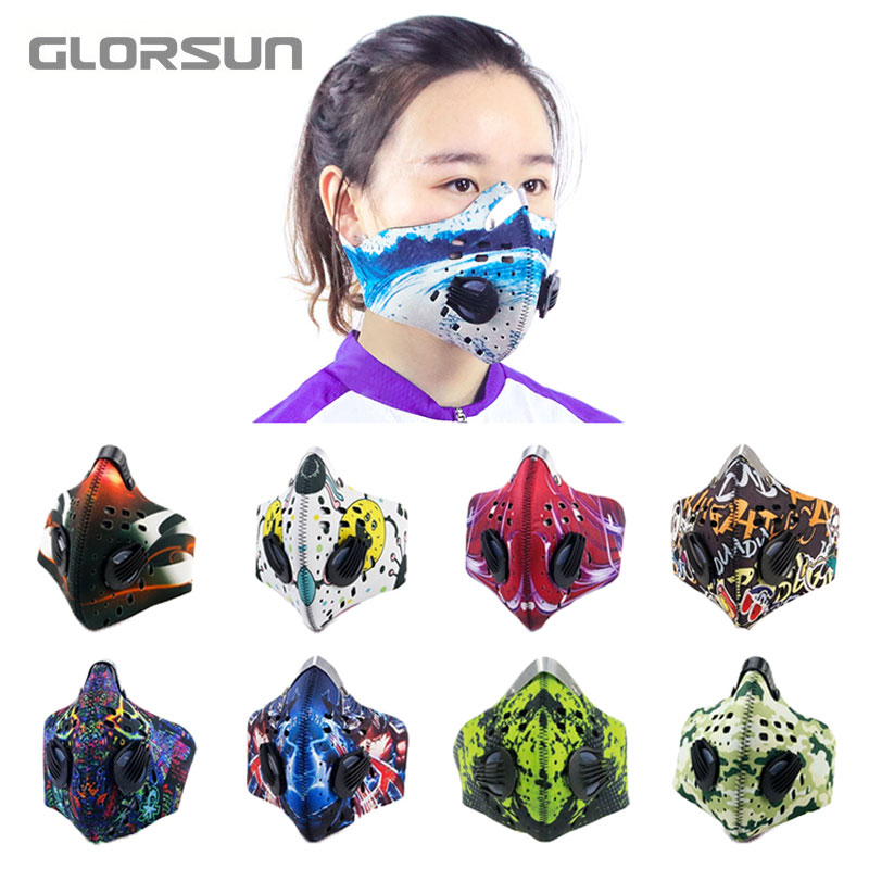 GLORSUN Mask Design Your Own Breathing Air Filter Online Manufacturer N95 Mouth Fashion Pollution Sports Training Workout Mask