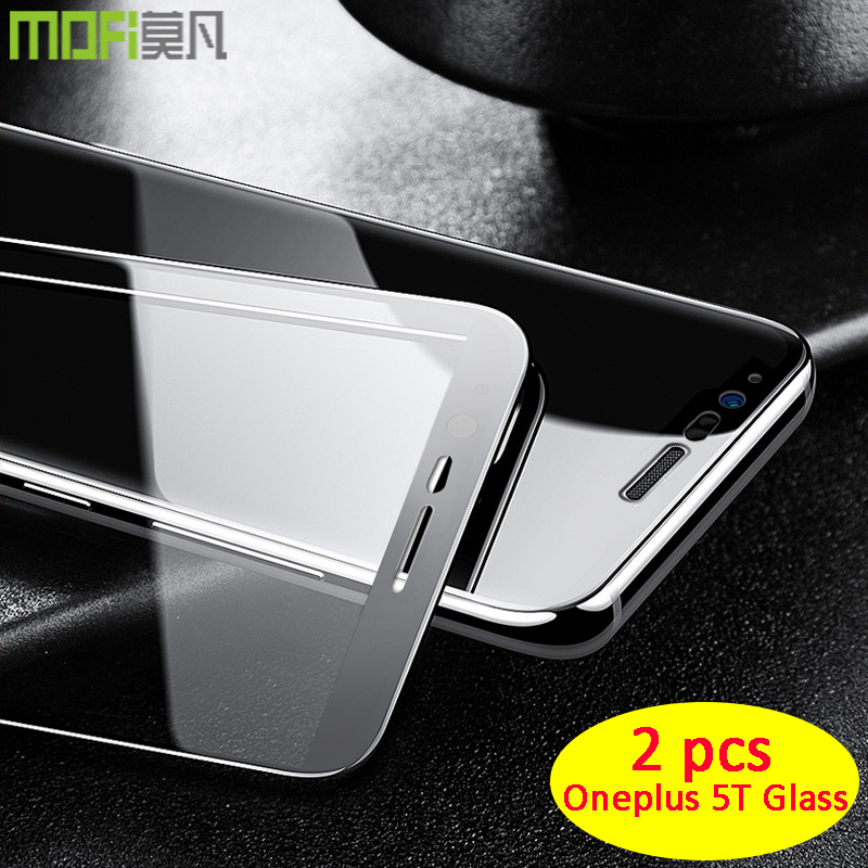 oneplus 5t glass full cover Mofi 6 inch one plus 5t screen protector  1+5t black white front film oneplus 5t glass
