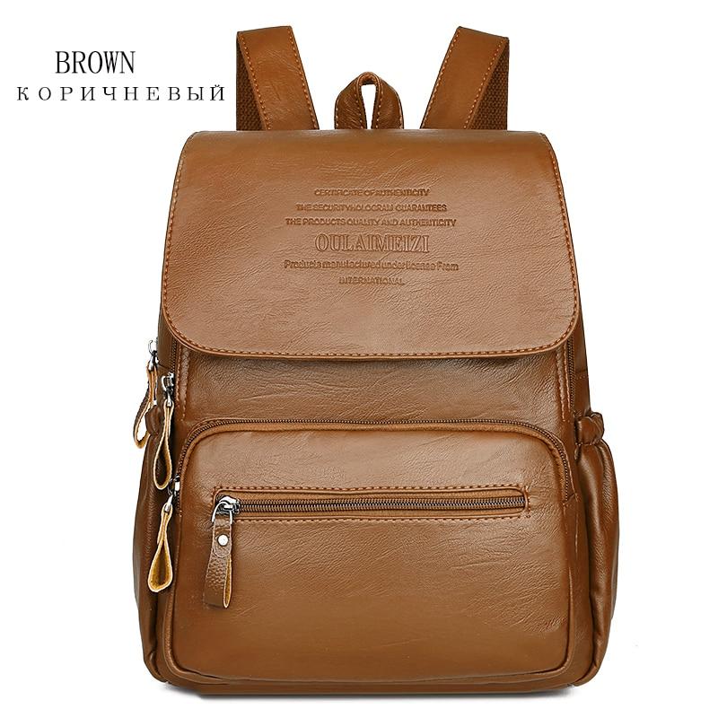 HTB1JfmoR7voK1RjSZFwq6AiCFXa3 2019 Women Leather Backpacks High Quality Ladies Bagpack Luxury Designer Large Capacity Casual Daypack Sac A Dos Girl Mochilas