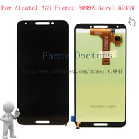 5 5 Black Full LCD DIsplay Touch Screen Digitizer Assembly For Alcatel A30 Fierce 5049 5049Z
