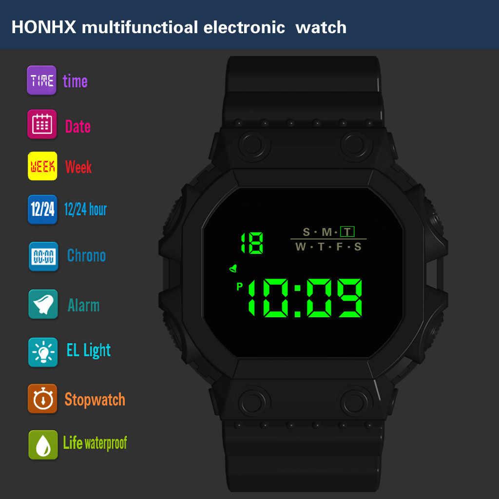 Бренд honhx цифровые часы электронные спортивные Многофункциональный