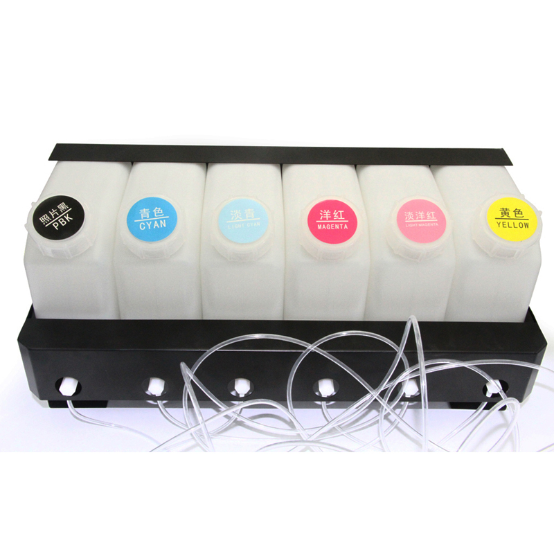 6 kleur Bulk Inkt Systeem voor Mimaki voor Roland voor Mutoh Printer Continue Inkttoevoer Systeem 6 Inkt Tank + 6 Cartridge met chip - 3