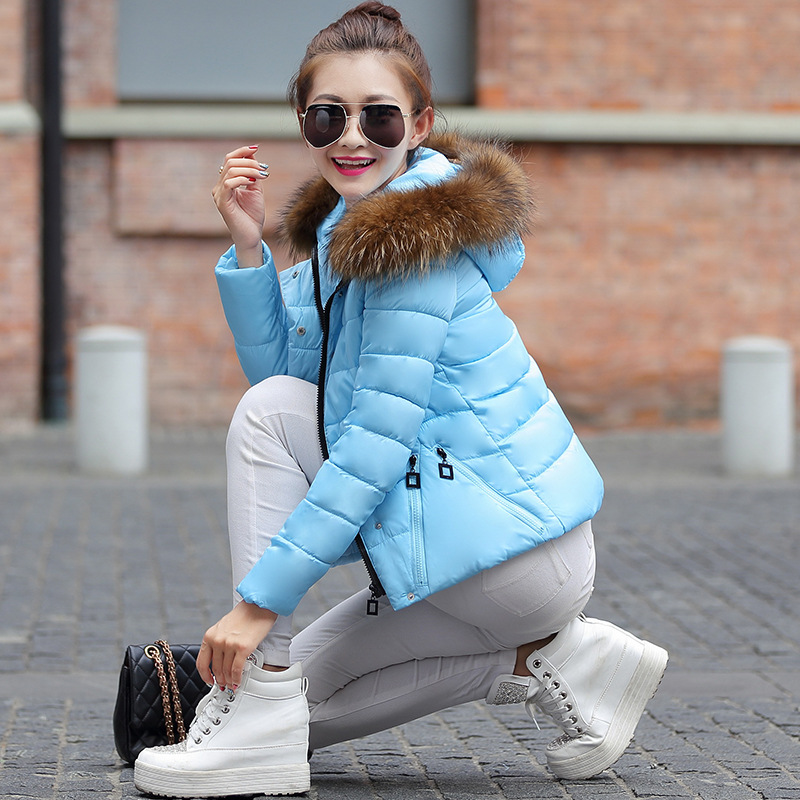 ФОТО 2016 Brand New Hot Women hooded downing jacket fashion Women Parkas coat winter thick Lady cotton-padded jacket plus size 6color