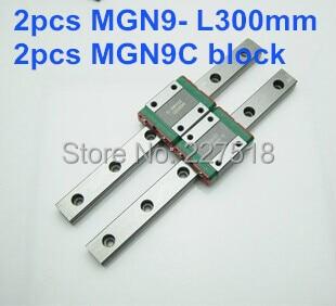 2pcs  linear rail  MGN9 300mm with 2pcs mini MGN9C2pcs  linear rail  MGN9 300mm with 2pcs mini MGN9C