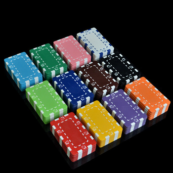2Pcs/set Foreign Trade Hot Selling Rectangular Non Denomination Chips Mahjong Poker Chips Iron Sheet image