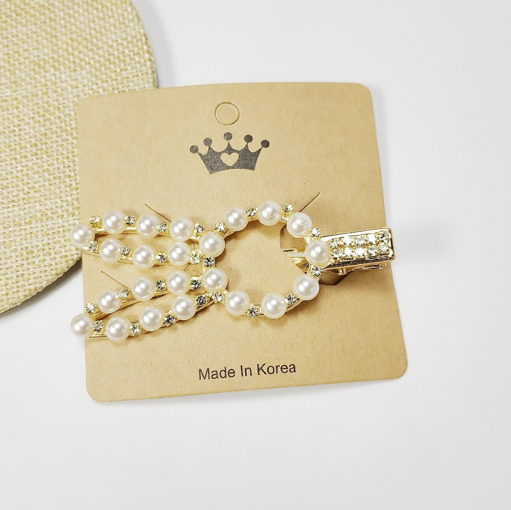 Fashion Pearl Hair Clip for Women Elegant Korean Design Snap Barrette Stick Hairpin Hair Styling Accessories Hairgrip Headdress in Hair Jewelry from Jewelry Accessories