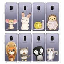 phone cases cute fox Koalas lion bird panda tiger animal cover for Samsung A6 A8 A9 2018 2015 A7 2016