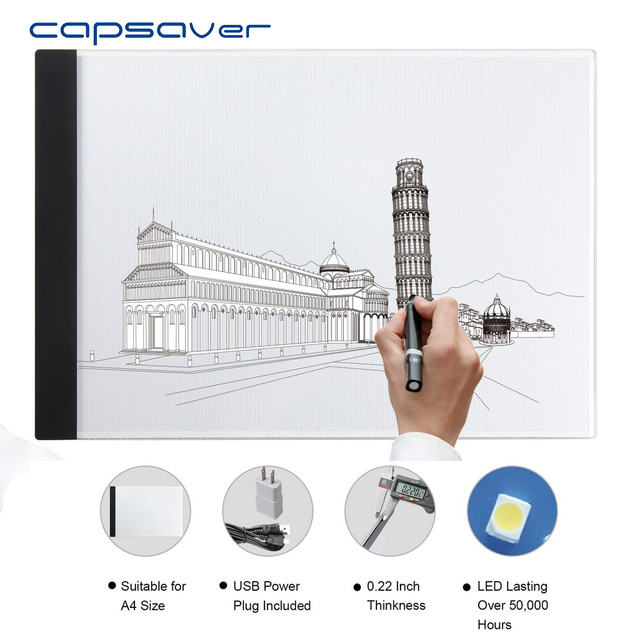 Capsaver A4 Ultra Thin Drawing Animation Board Led Tracing Light Pad