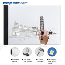 Cheap price capsaver A4 Ultra-thin Drawing Animation Board LED Tracing Light Pad Copy Table Pervious Board Sketching Drawing Tablet with USB
