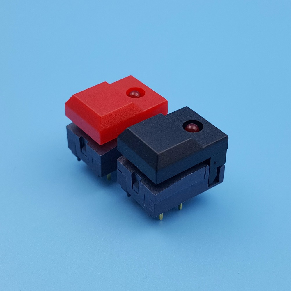 Hongju Pb86 A1 6pin Single Led Momentary Pcb Mount Spdt Push Button Tact Switch Wiring For Stage Equipment Control In Switches From Lights Lighting On