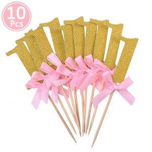 Image 5 - 1st Verjaardag Meisje Party Decoraties Roze Gelukkige Verjaardag Ballonnen Set 12 Maanden Fotolijst Banner Eerste Baby Mijn 1 Een jaar Diy