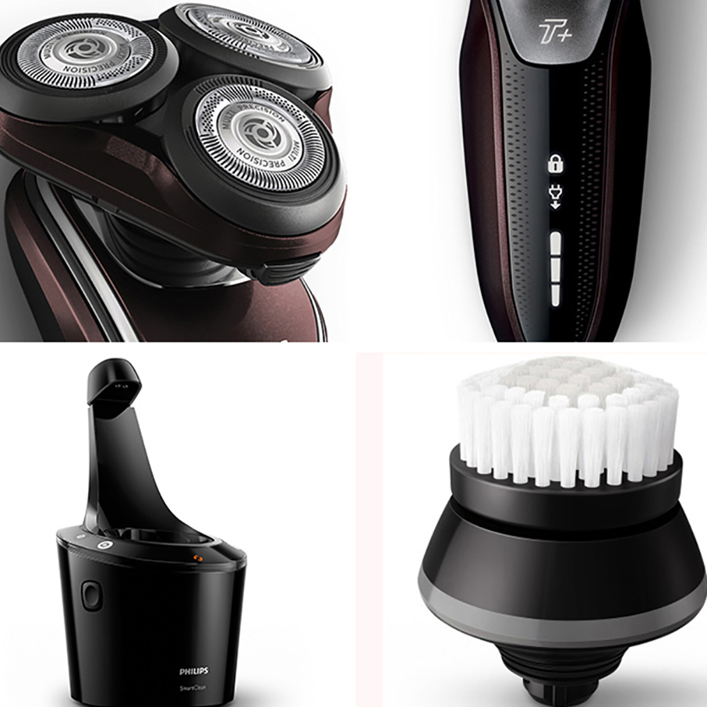 Original Philips Multi function Electric Shaver S5560/33 Intelligent Cleaning Waterproof Rechargeable Razor for Men Face Care - 3