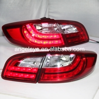 Для hyundai Santa Fe светодиодный задний фонарь 2006 2012 год красный белый цвет LF