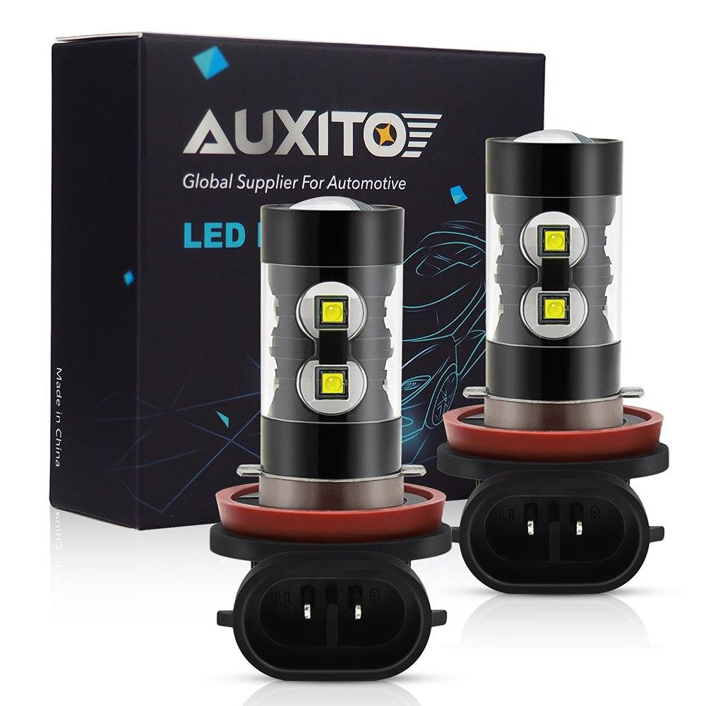 AUXITO PSX24W H16 H8 H11 LED Bulb H10 9006 HB4 LED Fog Lights 6000K 12V White Car Daytime Running Light DRL Lamp Auto Light Bulb