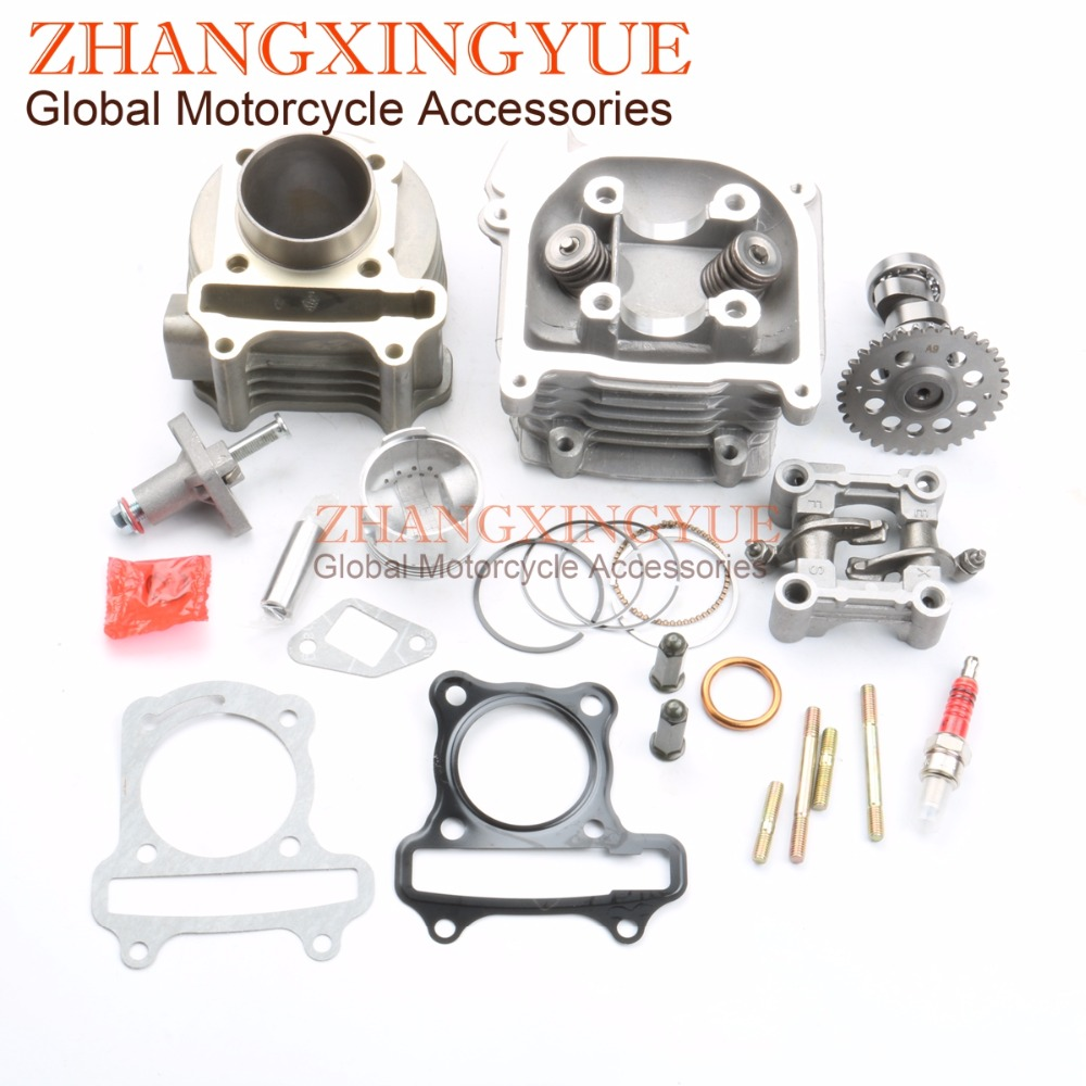 80cc Big Bore Kit Performance & 9 Hole Cam & Tensioners & Rocker Assemblies for GY6 50cc Upgrade to 80cc 47mm 139QMB 4T80cc Big Bore Kit Performance & 9 Hole Cam & Tensioners & Rocker Assemblies for GY6 50cc Upgrade to 80cc 47mm 139QMB 4T