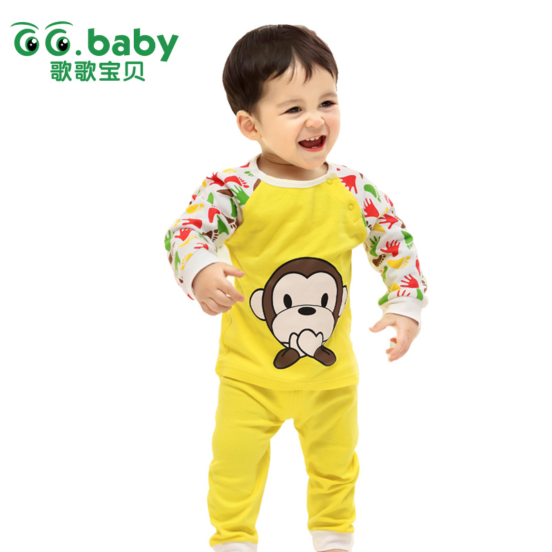 Newborn Baby Boys Outfit Baby Sets Clothes Infant Baby Girls Tracksuits Clothing Ropa Bebes Conjuntos Children Monkey Suit Sets
