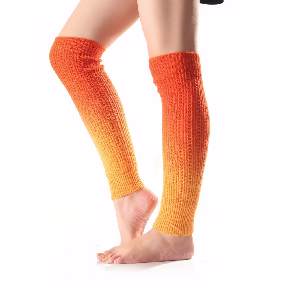 Women's winter warm soft leg warmer knitting legging boot ...