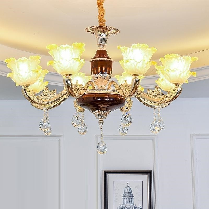 Luminaire Lustre E Pendente Para Sala De Jantar European Crystal Lampen Modern Hanging Lamp Loft Deco Maison Pendant Light in Pendant Lights from Lights Lighting