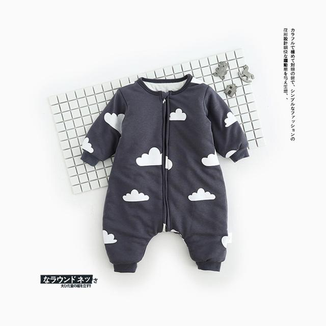 Otoño invierno ropa de Dormir Niño Niña Sleepsacks Sacos de Dormir Del Bebé Niño Lindo Niños Sleepers Manta de algodón suave para bebés