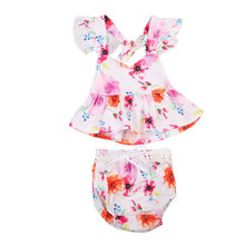 Summer Toddler Baby Girls Kids Outfits Top Blouse Shorts Pants Sunsuit Clothes Infant Newborn Girl Clothing Set Playsuits Cute