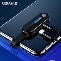 USAMS podwójny dla adaptera Lightning Audio 2 w 1 ładowania dla iPhone X XS 7 8 Adapter do błyskawicy + 3.5mm 2A ładowania Adapter OTG