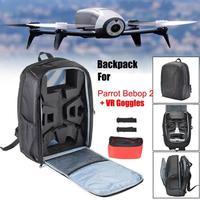 Portable Waterproof Drone Backpack Shoulder Bag Carrying Case Handbag For Parrot Bebop 2 Power FPV Drone Storage Bags