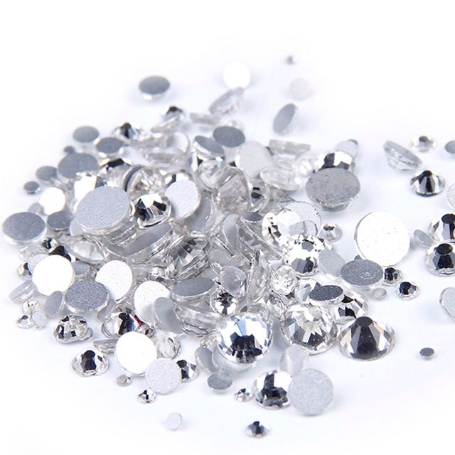 Crystal Clear Color ss3-ss60 Non Hotfix Rhinestones Flatback Glue On Crystal  Stones For Jewelry Making Decorations 9c6ff002ba87