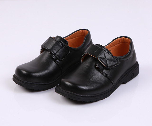Flower Children Boys Black Patent Leather Stage Dance Dress Shoes For Teens Boys Party Wedding Shoes 6 8 10 14 16 18 Years New 5