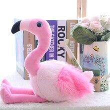 1 шт. Мультяшные плюшевые игрушки Фламинго Милая птица дикая природа Мягкие плюшевые игрушки-животные для детей 45 см