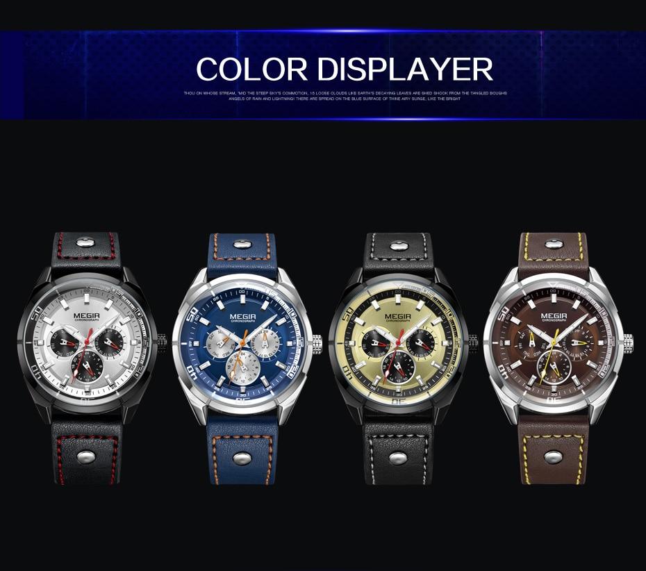 Topdudes.com - MEGIR Creative Luxury  Army Military Sport Wrist Watch