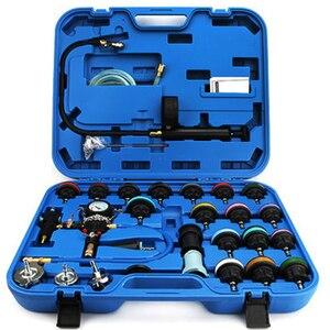 Image 2 - 28pcs/set car tank leak tester radiator pressure tester vacuum cooling system test  leak detector tool