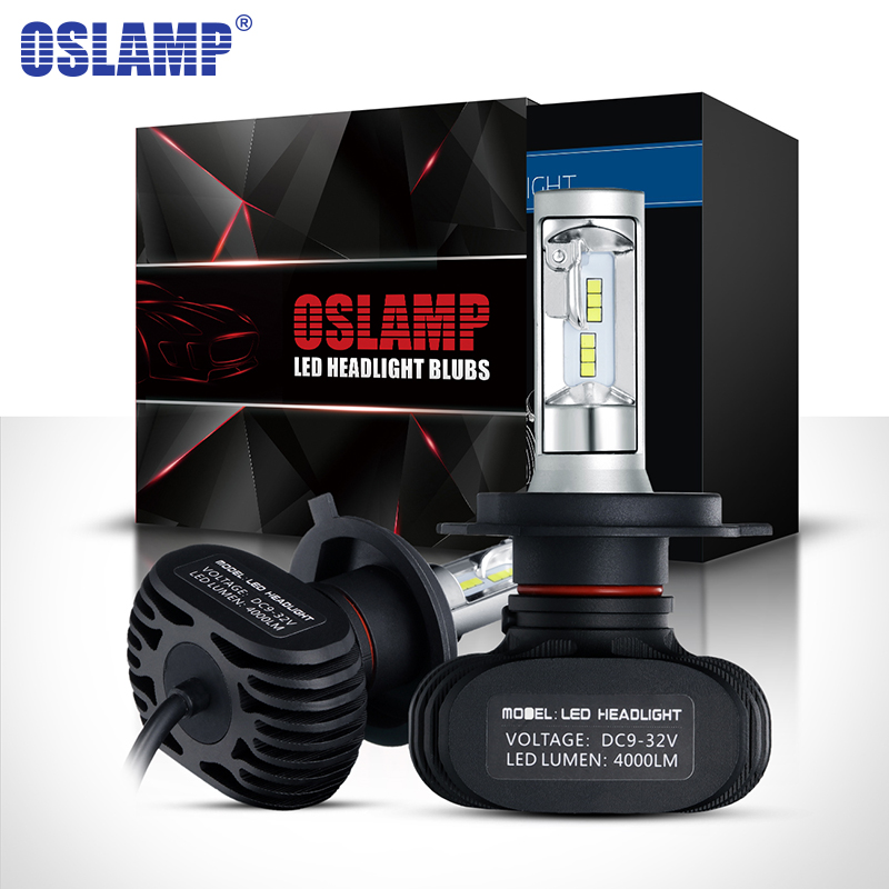 Oslamp H4 H7 H11 H13 9005 HB3 9006 HB4 LED Car Headlight Single Hi Lo Beam CSP Chips Auto Led Headlamp Fog Light Bulbs 6500K