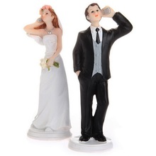 Bride and Groom soccer call busy Funny Figurine Wedding Cake Topper Personalised Event Party Supplies Marriage