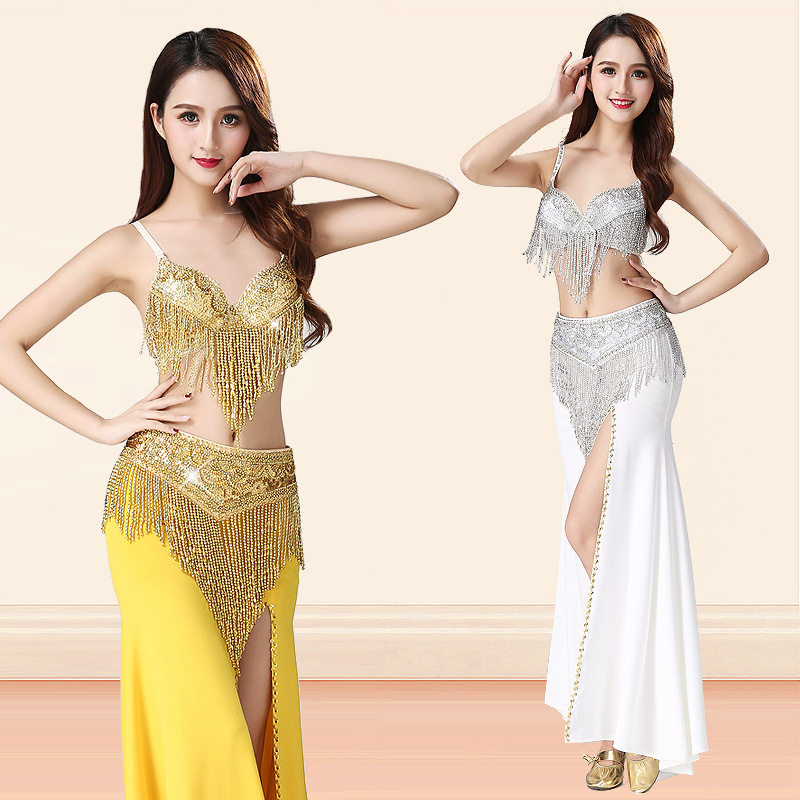 Belly Indian eastern hair swinging baladi dance costumes Bellydance oriental dancing costume robe bra belt skirt dress wear 3285