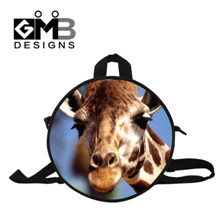 -5 3D Animal Horse Print Family Backpack for Teenager Kids Owl Toddler Baby Shoulder Round Bag School Bag for Boy and Girl Mochilas