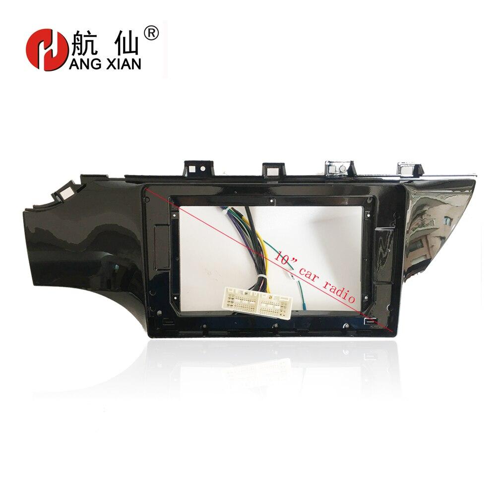 HANGXIAN 2 Din Car Radio Fascia frame for KIA K2 Rio 2017 car DVD gps navi Panel Dash Kit Installation Frame Trim Bezel